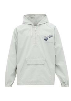 Martine Rose Logo-print hooded twill windbreaker