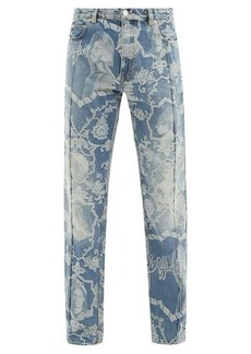Martine Rose Portrait and paisley-jacquard straight-leg jeans
