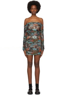 Martine Rose SSENSE Exclusive Blue Romandie Dress