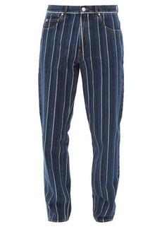Martine Rose Jacquard-striped straight-leg jeans
