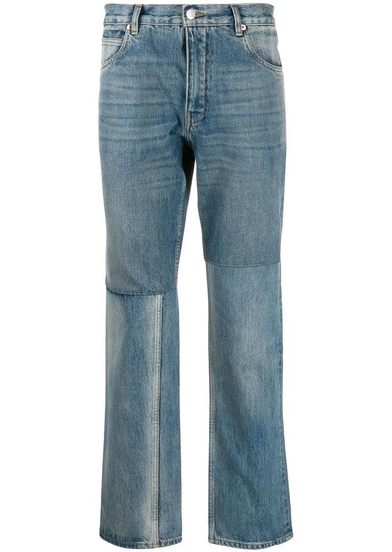 Martine Rose panelled straight-leg jeans