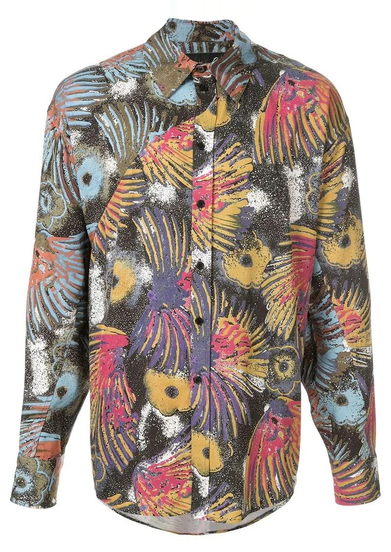 Martine Rose printed button-up shirt
