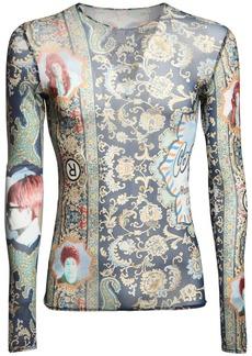 Martine Rose Printed Stretch Mesh Top