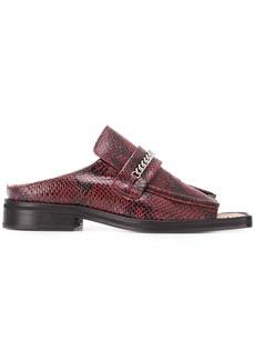 Martine Rose snakeskin-effect sandals