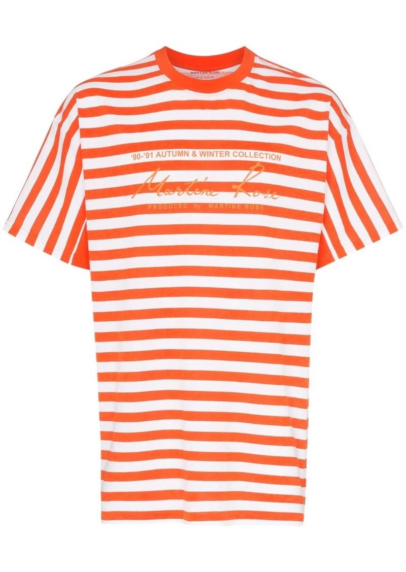 Martine Rose striped logo print cotton T-shirt