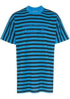 Martine Rose Striped logo T-Shirt