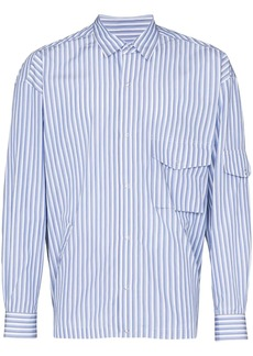 Martine Rose striped multi-pocket shirt