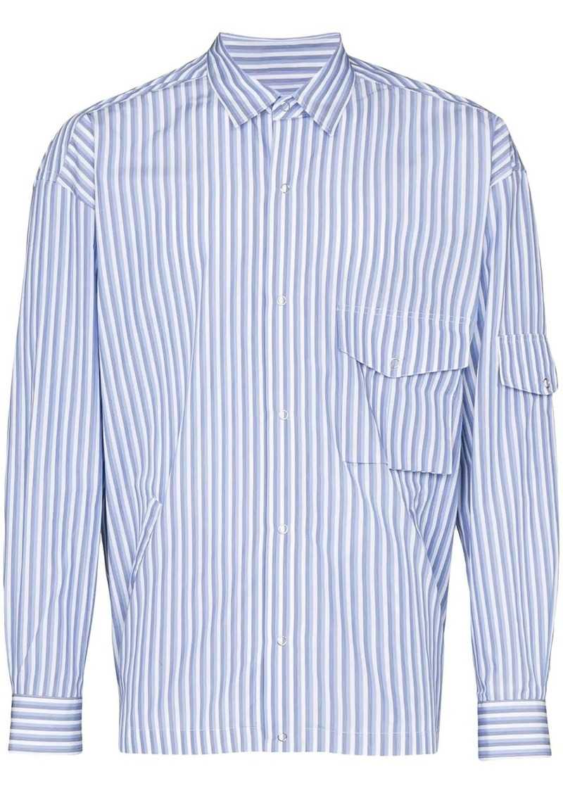 Martine Rose striped multi-pocket shirt