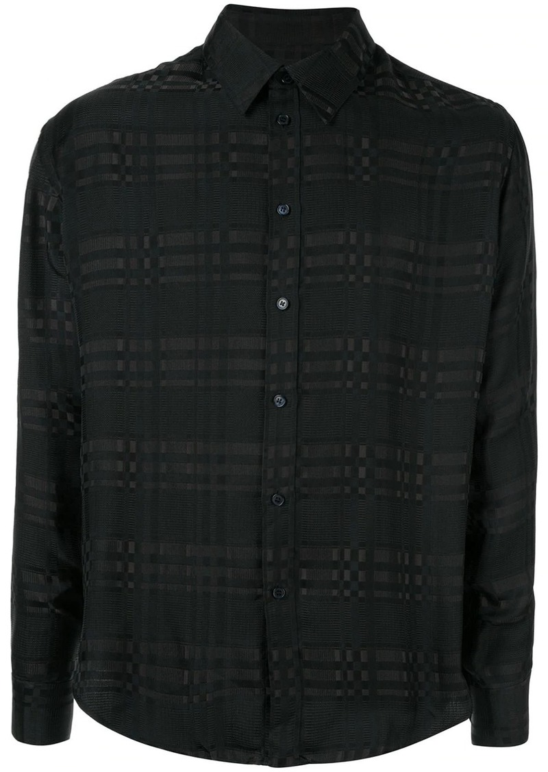 Martine Rose tone-on-tone check shirt