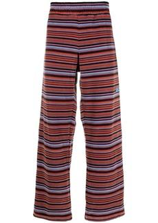 Martine Rose velour striped wide-leg trousers