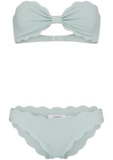 Marysia Antibes strapless scalloped bikini set