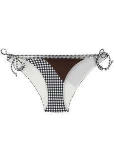 Marysia check bikini bottoms