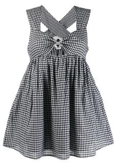 Marysia check flare mini dress