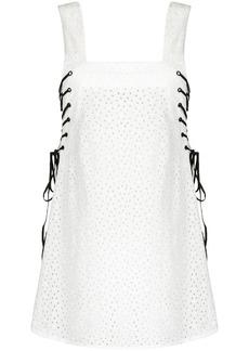 Marysia embroidered mini dress