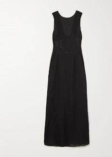 Marysia Gargano Open-back Cotton-seersucker Maxi Dress
