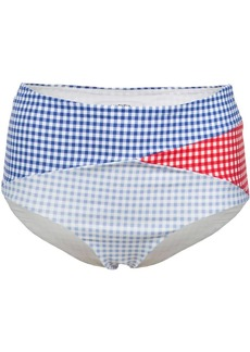 Marysia gingham bikini bottom