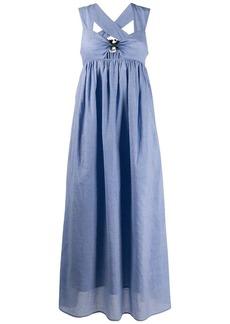 Marysia gingham flare dress