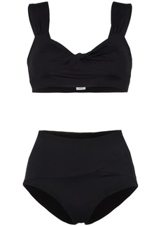Marysia Lehi crop top high waisted bikini set