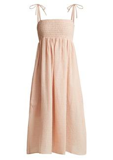 Marysia Broderie-anglaise cotton midi dress