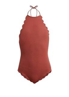 Marysia Mott scallop-edged halterneck swimsuit