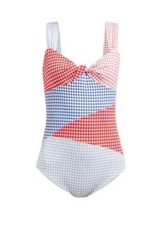 Marysia Sagaponack gingham swimsuit
