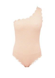 Marysia Santa Barbara one-shoulder gingham swimsuit
