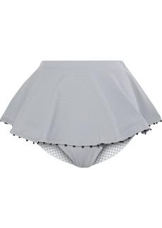 Marysia Woman French Gramercy Layered Stretch-crepe High-rise Bikini Briefs Gray