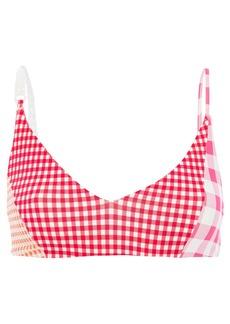 Marysia Woman Suffolk Gingham Triangle Bikini Top Red