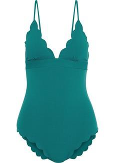 Marysia Woman Santa Clara Maillot Scalloped Swimsuit Emerald