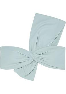 Marysia Woman Venice One-shoulder Twist-front Bikini Top Grey Green