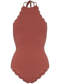 Marysia Mott Malliot high neck scalloped swimsuit