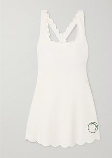 Marysia Net Sustain Serena Scalloped Recycled Seersucker Tennis Dress