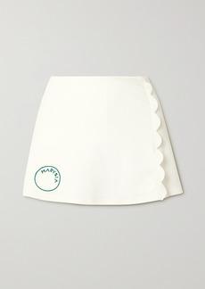 Marysia Net Sustain Steffi Scalloped Stretch Recycled-seersucker Tennis Skirt