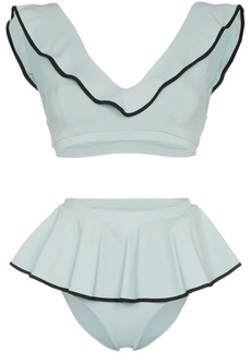 Marysia Piana high waisted ruffle detail bikini set