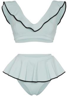 Marysia Piana high-waisted ruffle detail bikini set