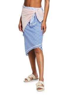 Marysia Picnic Scarf Check Sarong Coverup