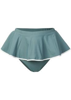Marysia pleated bikini bottoms