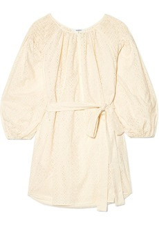 Marysia San Salvador Broderie Anglaise Cotton Mini Dress