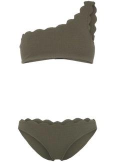 Marysia Santa Barbara scallop trim one shoulder bikini set