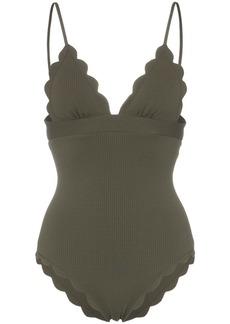 Marysia Santa Clara Maillot scallop detail swimsuit