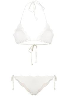Marysia scalloped crinkled bikini set