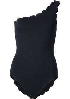 Marysia scalloped one shoulder swimsuit