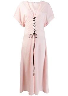Marysia short-sleeve flared dress