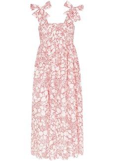 Marysia Sicily floral print midi dress