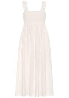 Marysia Sicily smocked cotton midi dress