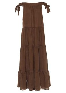 Marysia Starfish off-shoulder cotton maxi dress