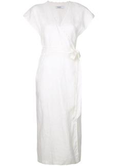 Marysia tie waist wrap dress