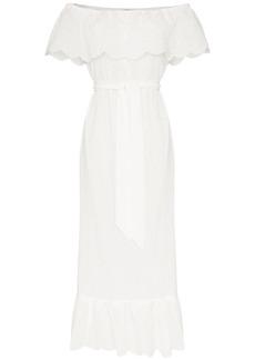 Marysia victoria off-the-shoulder cotton dress