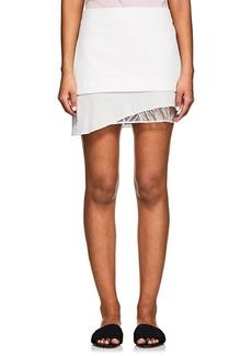 Mason by Michelle Mason Women's Asymmetric Lace-Trimmed Miniskirt