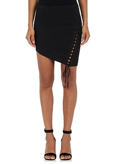 Mason by Michelle Mason Women's Lace-Up Twill Miniskirt